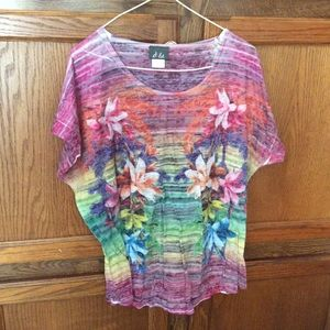 Dots women's blouse tie dyed
